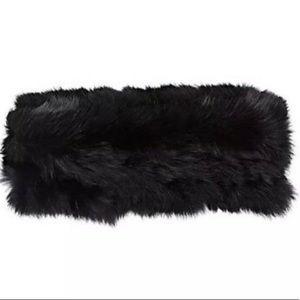 Barney's New York Hat Attack Rabbit fur headband